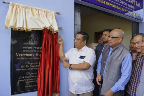 Forest Minister Th. Shyamkumar inaugurates veterinary hospital and Slow Loris enclosure at Manipur Zoological Garden