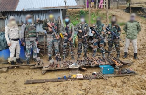 AR bust illegal arms workshop in Ukhrul District