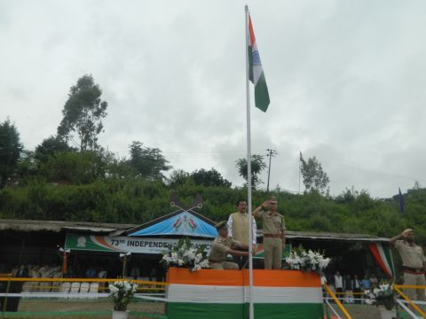 73rd Independence Day celebrated at Senapati