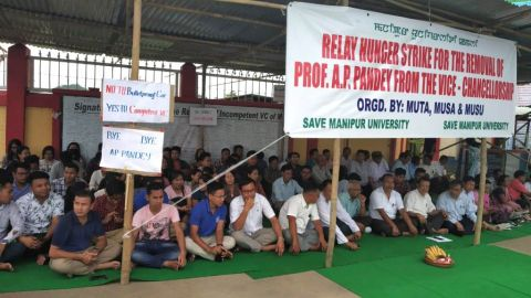 MU communities begins relay hunger strike; prepares for more intensified protest if fails to remove VC Prof. AP Pandey