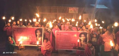 SSUM organises torch rally at 350 different places in valley districts of Manipur