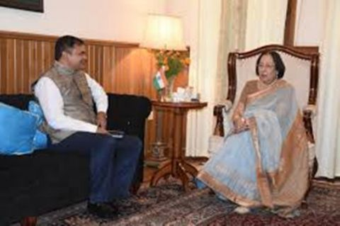 My meeting with the Governor was to discuss about the improvement of Manipur Bhavan – PK Singh