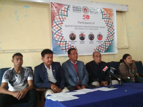 Manipuri players to participate in the Special Olympics World Summer Games; urged Govt for their support