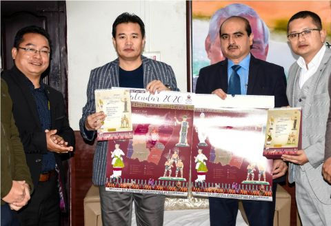 Minister Biswajit releases theme based MEETAC Wall and Desk Calendar