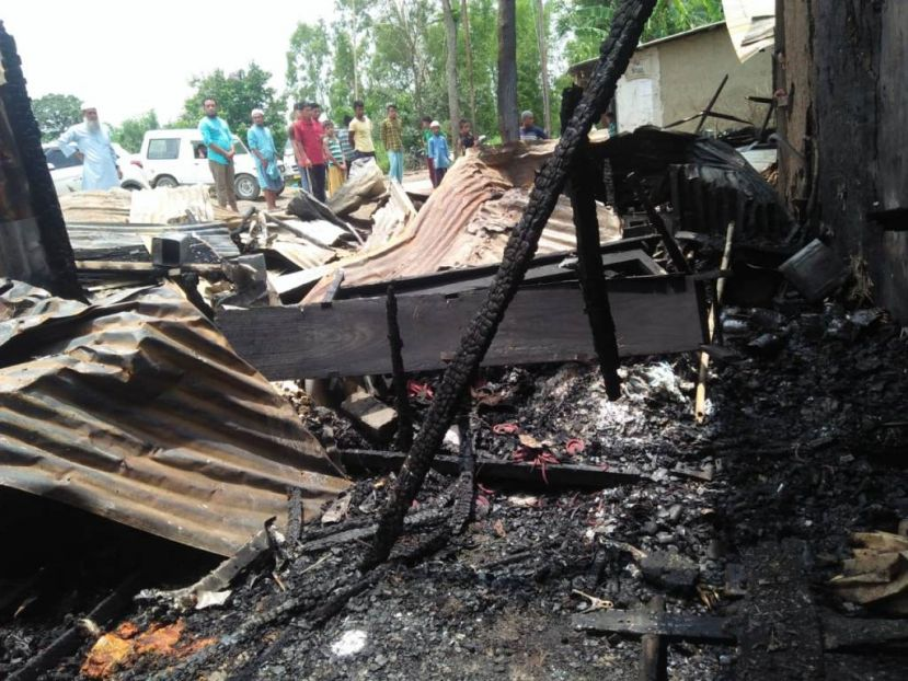 7 shops 1 house gutted; property worth Crores reportedly destroyed