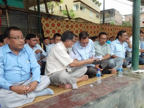 AMUCO, UCM, CCSK stage protest demonstration against extension of Article 371 (A) to Manipur