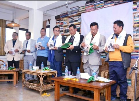 "Filling the left out :  Hareshwar Goshwami's  revise edition ""History of the People of Manipur'  released"