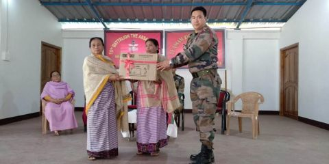 Assam Rifles Distributes Sewing Machines
