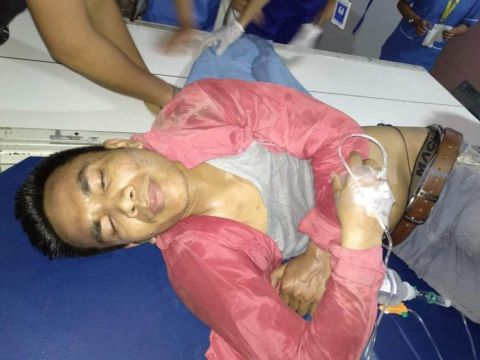 Student leader ran over by truck after police pushed him hard while protesting in front of state BJP Office