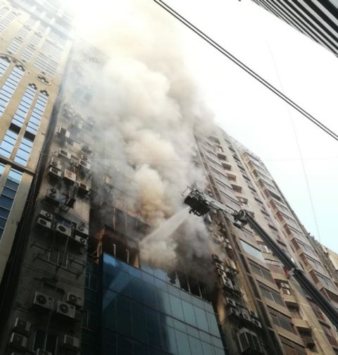 Fire breaks out at FR Tower in Dhaka