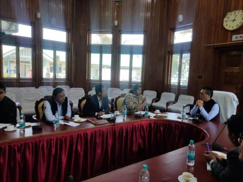 Minister Letpao instructs Department Engineers to highlight achievements on Amit Shah's visit